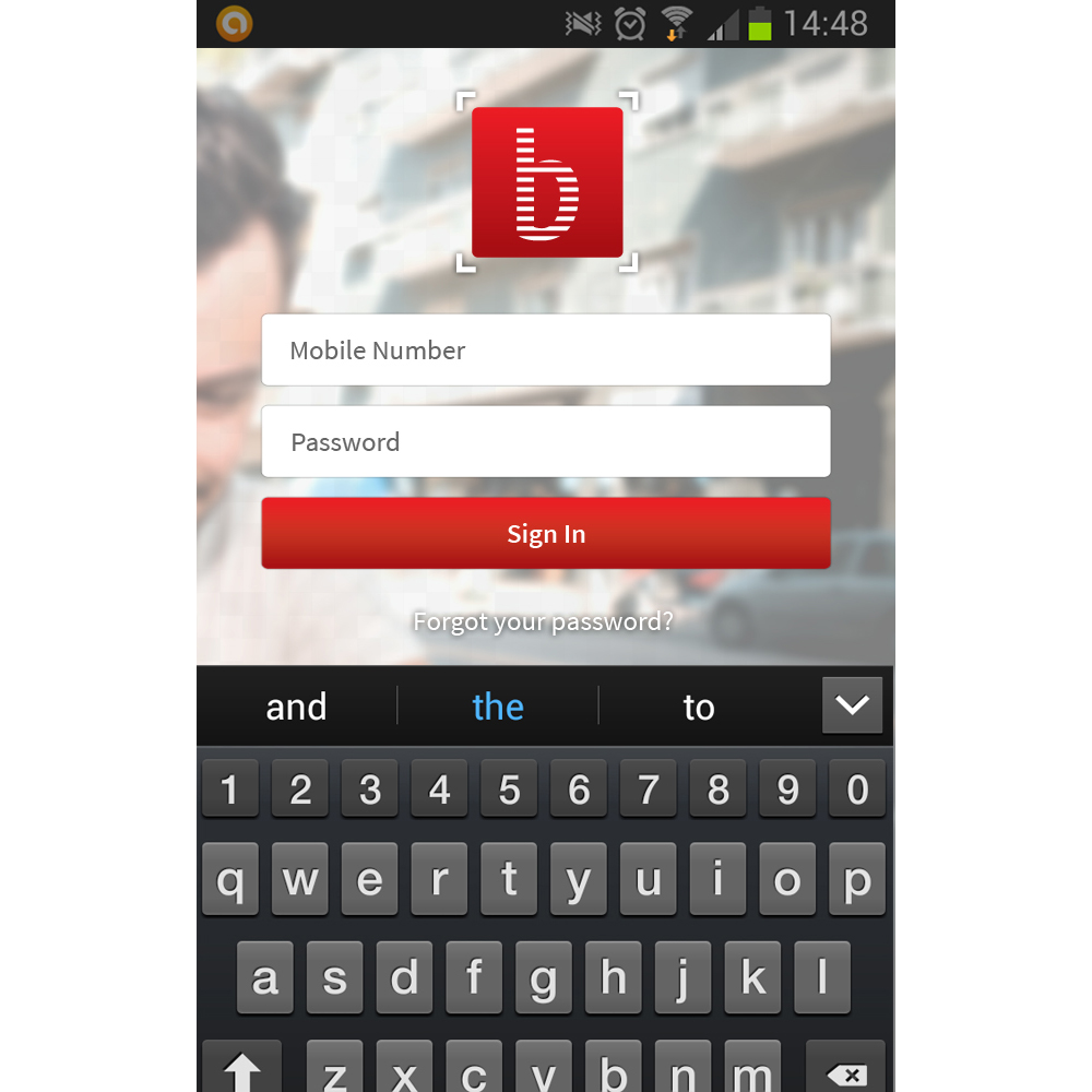 Application design - screen