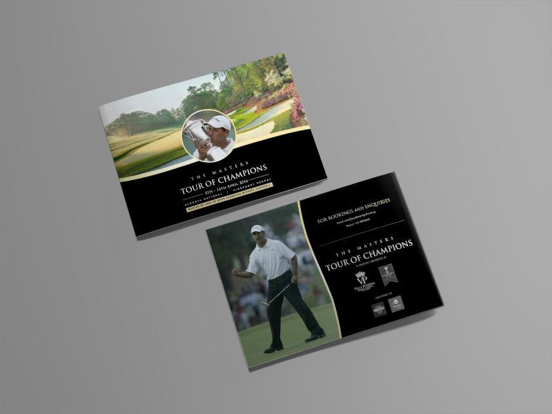 golf brochure design