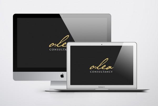 olea consultancy logo and website design