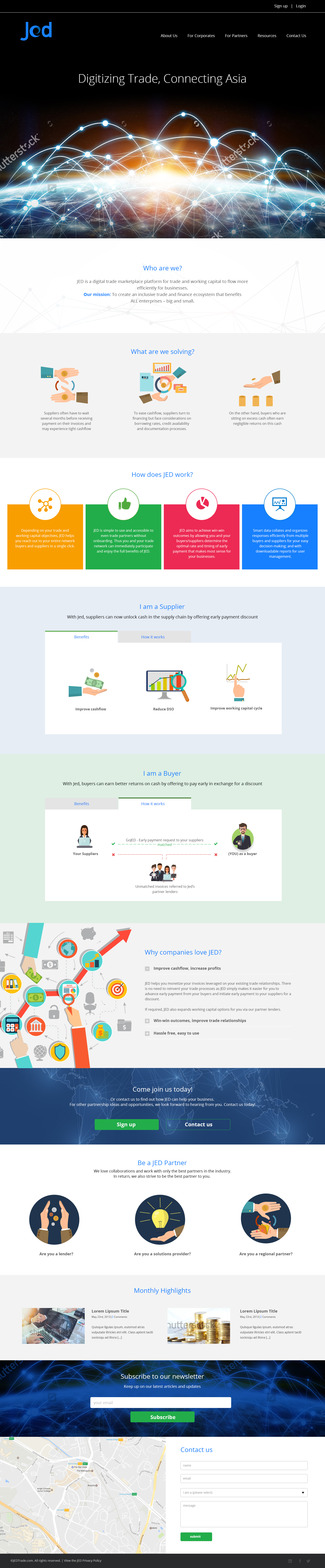 Jed Trade Website And Name Card Design Serene Soh